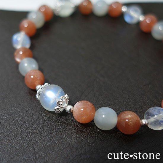 【月光の導き】いろいろなムーンストーンを使ったブレスレットの写真5 cute stone