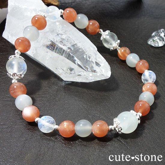 【月光の導き】いろいろなムーンストーンを使ったブレスレットの写真6 cute stone
