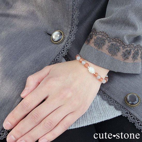 【月光の導き】いろいろなムーンストーンを使ったブレスレットの写真7 cute stone