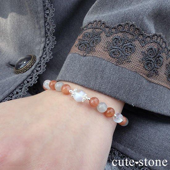 【月光の導き】いろいろなムーンストーンを使ったブレスレットの写真8 cute stone