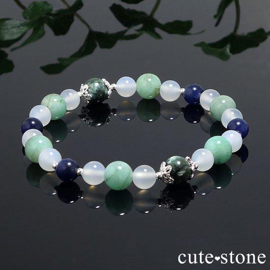 【Ange vert】セラフィナイト エメラルド インペリアルソーダライト ホワイトカルセドニーのブレスレットの写真5 cute stone