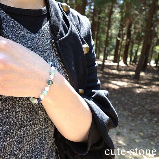 【Ange vert】セラフィナイト エメラルド インペリアルソーダライト ホワイトカルセドニーのブレスレットの写真6 cute stone