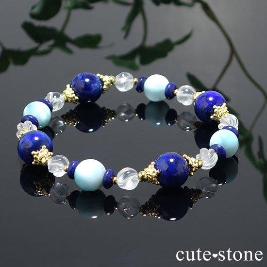 【Horizon】ラピスラズリ ラリマー ミルキークォーツのブレスレットの写真4 cute stone