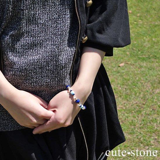 【Horizon】ラピスラズリ ラリマー ミルキークォーツのブレスレットの写真6 cute stone