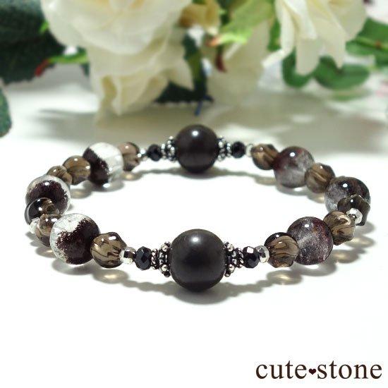 【大地の神秘】シャーマナイト ガーデンクォーツ ブラックスピネル スモーキークォーツのブレスレットの写真3 cute stone
