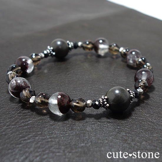 【大地の神秘】シャーマナイト ガーデンクォーツ ブラックスピネル スモーキークォーツのブレスレットの写真4 cute stone