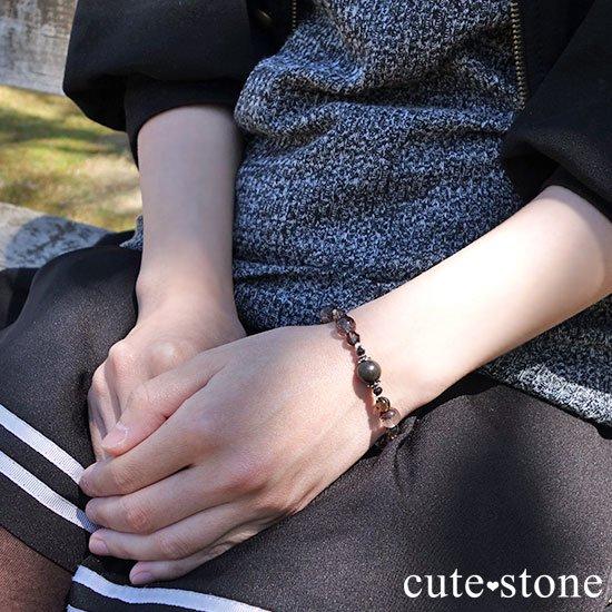 【大地の神秘】シャーマナイト ガーデンクォーツ ブラックスピネル スモーキークォーツのブレスレットの写真6 cute stone