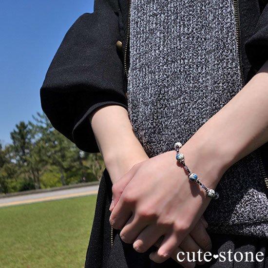 【雲の上の夜空】K2アズライト アイオライト ブラックスピネルのブレスレットの写真6 cute stone