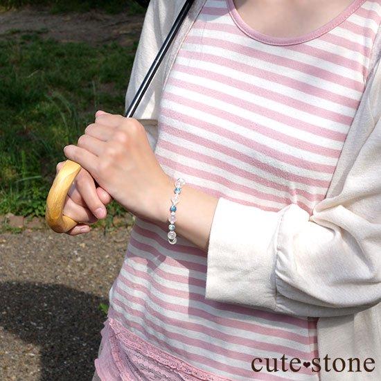 【K2と青空】K2ムーンクォーツ K2アズライトのブレスレットの写真6 cute stone