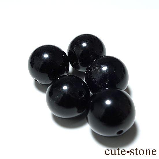【粒売り】山東省産モリオン(黒水晶) AAA ラウンド10mm