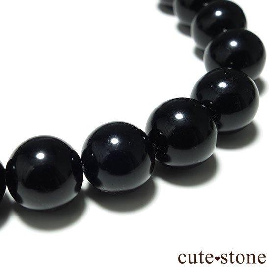 【粒売り】山東省産モリオン(黒水晶) AAA ラウンド10mmの写真0 cute stone