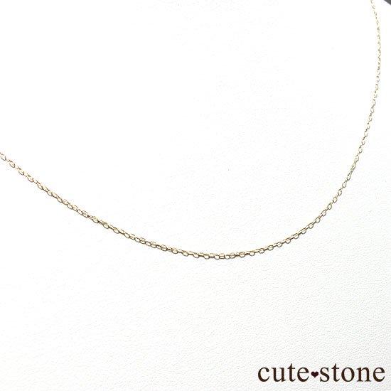 K18(18金)アズキチェーンネックレスの写真0 cute stone