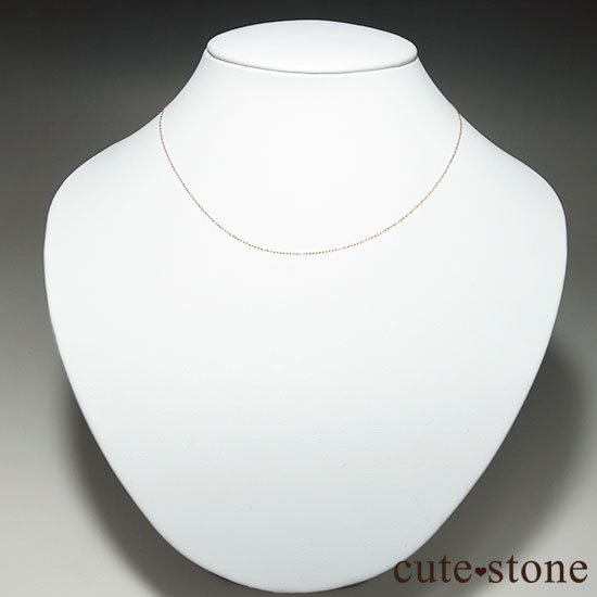 K18(18金)アズキチェーンネックレスの写真1 cute stone