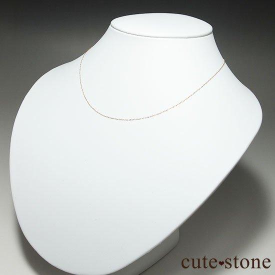 K18(18金)アズキチェーンネックレスの写真2 cute stone
