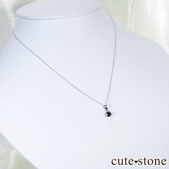 ブラックダイヤモンド 0.5ct プラチナ900製ペンダントトップの写真2 cute stone