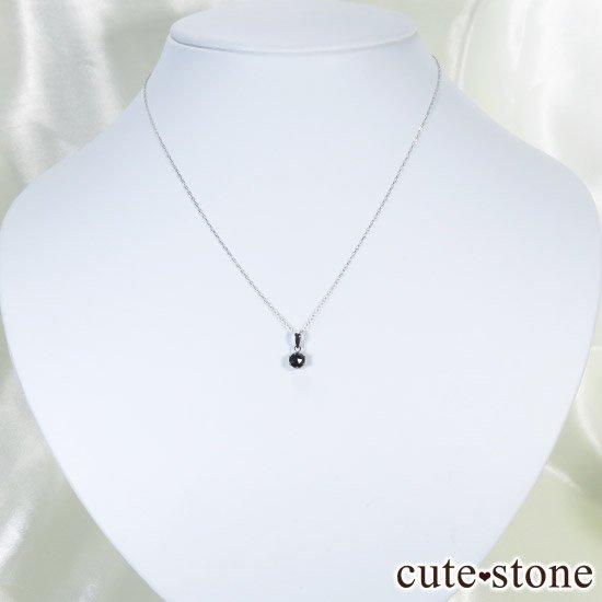 ブラックダイヤモンド 0.5ct プラチナ900製ペンダントトップの写真3 cute stone