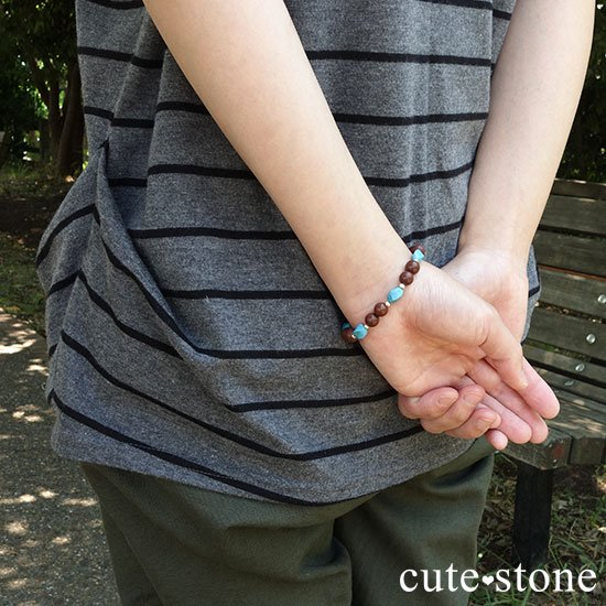 【聖なる大地】ターコイズ セドナストーンのブレスレットの写真7 cute stone
