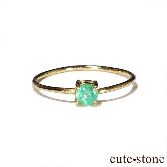 エメラルドのK18リング(サイズ調整可)の写真1 cute stone