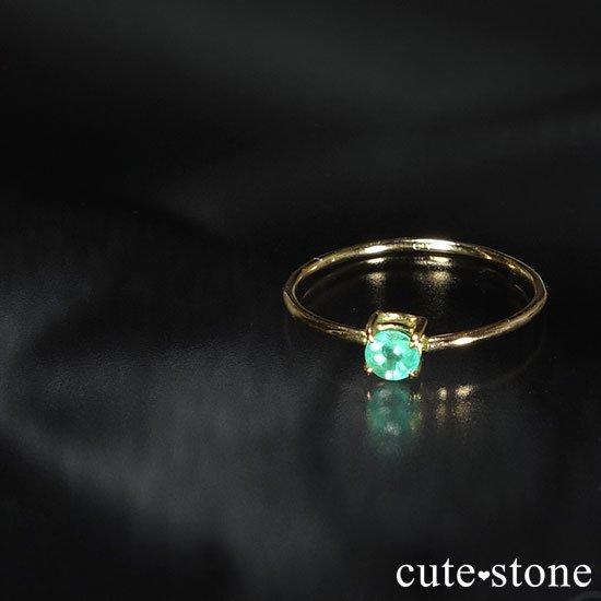 エメラルドのK18リング(サイズ調整可)の写真2 cute stone