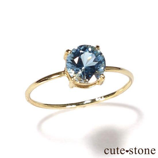 ブルートパーズのK18リング(サイズ調整可)の写真0 cute stone