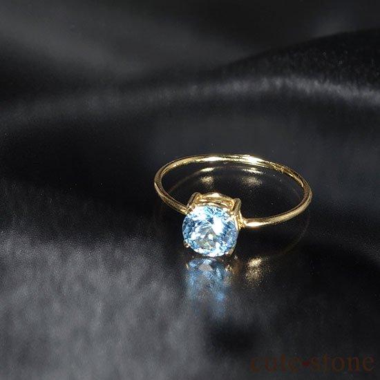 ブルートパーズのK18リング(サイズ調整可)の写真2 cute stone