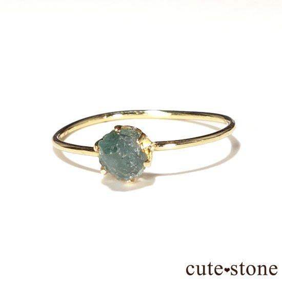 アレキサンドライトの原石 K18リング(サイズ調整可)の写真1 cute stone