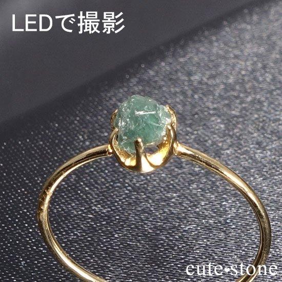 アレキサンドライトの原石 K18リング(サイズ調整可)の写真3 cute stone