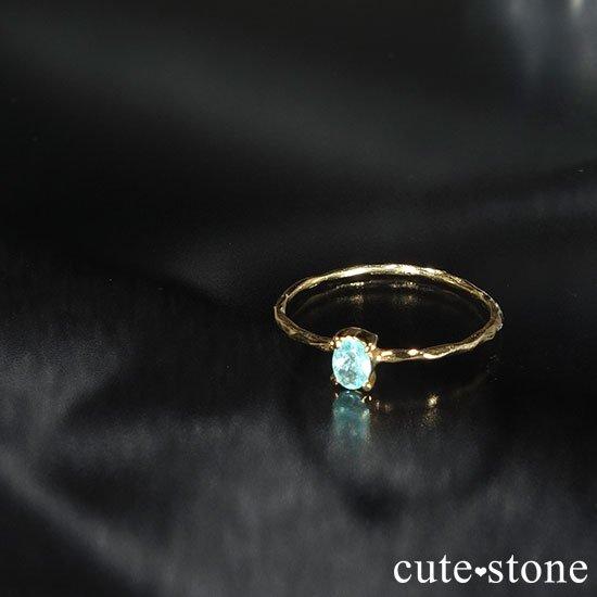 パライバトルマリンのK18リング(サイズ調整可)の写真2 cute stone