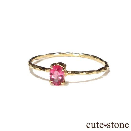 レッドスピネルのK18リング(サイズ調整可)の写真1 cute stone