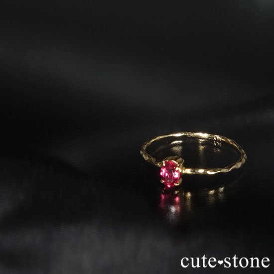 レッドスピネルのK18リング(サイズ調整可)の写真2 cute stone