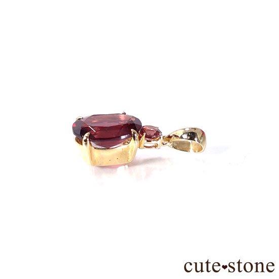ガーネットのK18製ペンダントトップの写真2 cute stone
