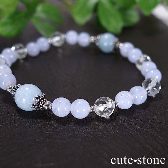 【水面のかけら】アクアマリン ブルーレース 水晶のブレスレットの写真0 cute stone
