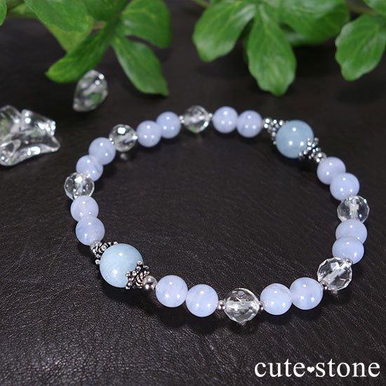 【水面のかけら】アクアマリン ブルーレース 水晶のブレスレットの写真2 cute stone