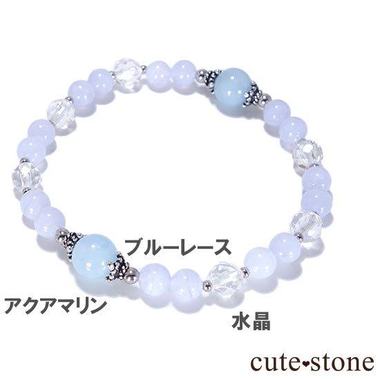 【水面のかけら】アクアマリン ブルーレース 水晶のブレスレットの写真3 cute stone