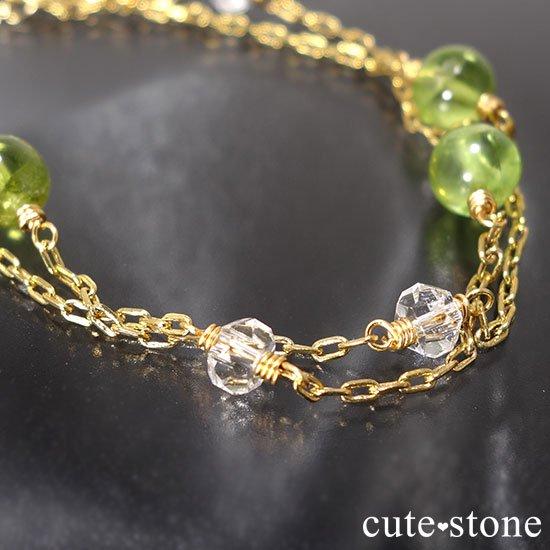 【森林浴】ペリドット 水晶のブレスレットの写真0 cute stone