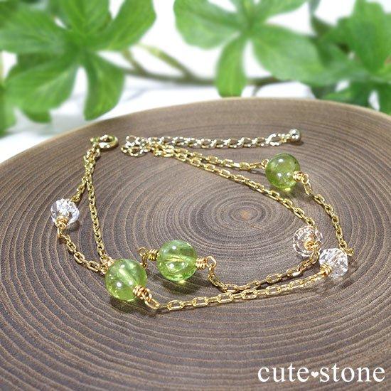 【森林浴】ペリドット 水晶のブレスレットの写真1 cute stone