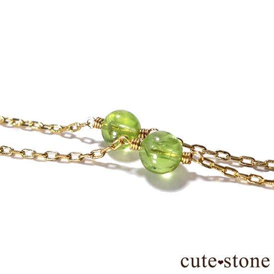 【森林浴】ペリドット 水晶のブレスレットの写真2 cute stone