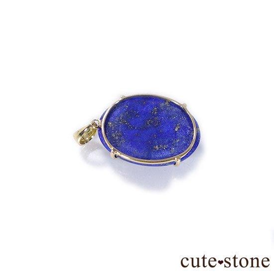 ラピスラズリのK18製のペンダントトップ Aの写真6 cute stone