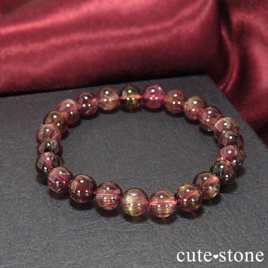 【1/2売り対象】ピンクトルマリン AAA〜AAA- ラウンド7mm シンプルブレスレットの写真4 cute stone