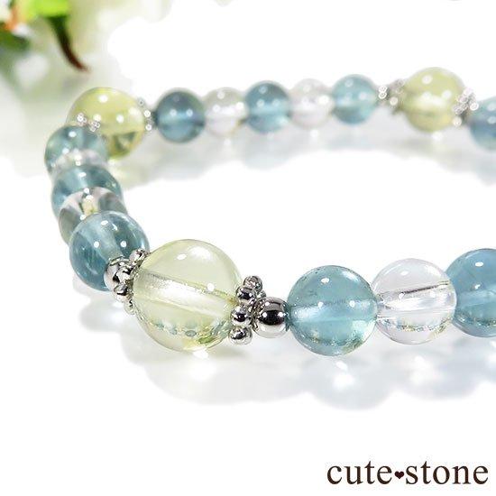 【星祭】レモンクォーツ ブルーフローライト 水晶のブレスレットの写真0 cute stone