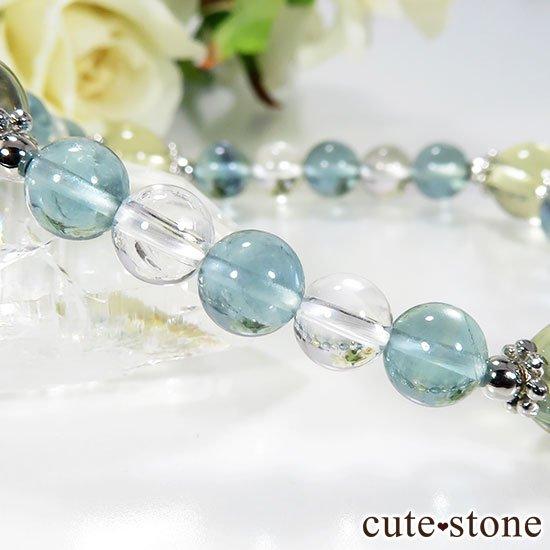 【星祭】レモンクォーツ ブルーフローライト 水晶のブレスレットの写真1 cute stone