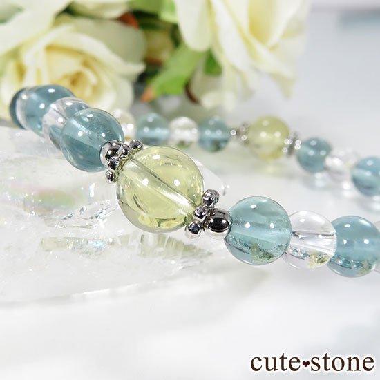 【星祭】レモンクォーツ ブルーフローライト 水晶のブレスレットの写真2 cute stone