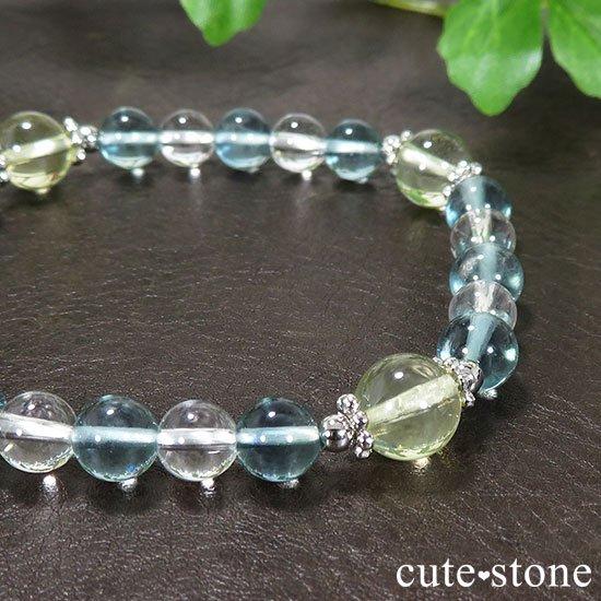 【星祭】レモンクォーツ ブルーフローライト 水晶のブレスレットの写真4 cute stone