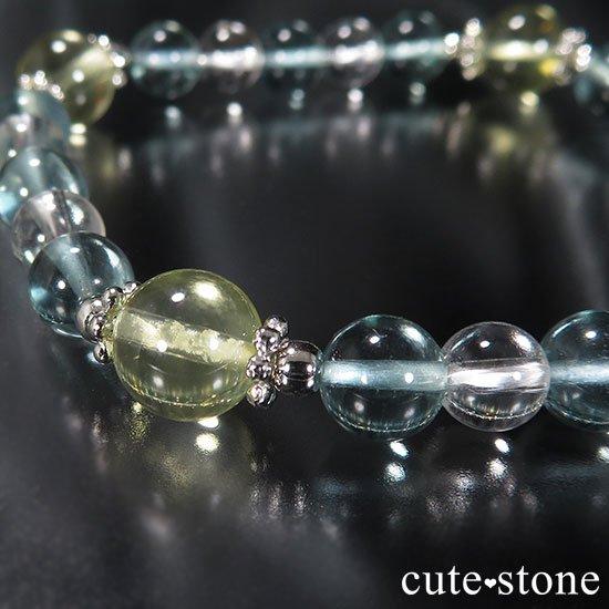 【星祭】レモンクォーツ ブルーフローライト 水晶のブレスレットの写真6 cute stone