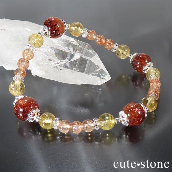 【CORONA】ファイアークォーツ インペリアルトパーズ サンストーンのブレスレットの写真0 cute stone