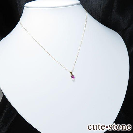 ピンクサファイアのK18製のペンダントトップの写真5 cute stone