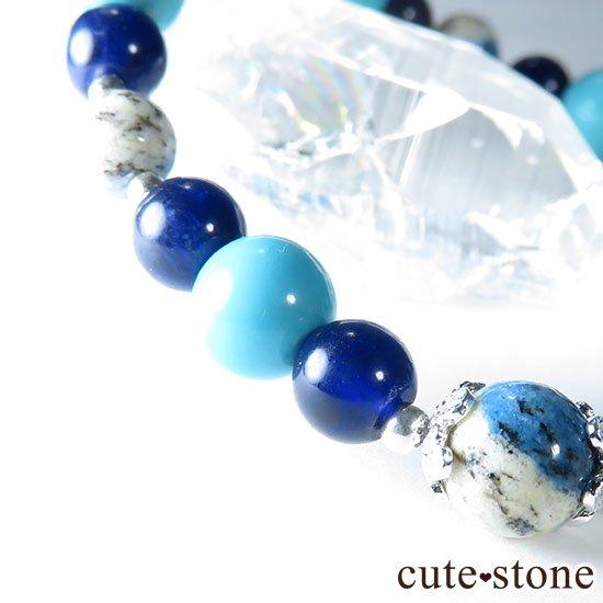 【無限の青】K2アズライト ターコイズ インペリアルソーダライトのブレスレットの写真4 cute stone