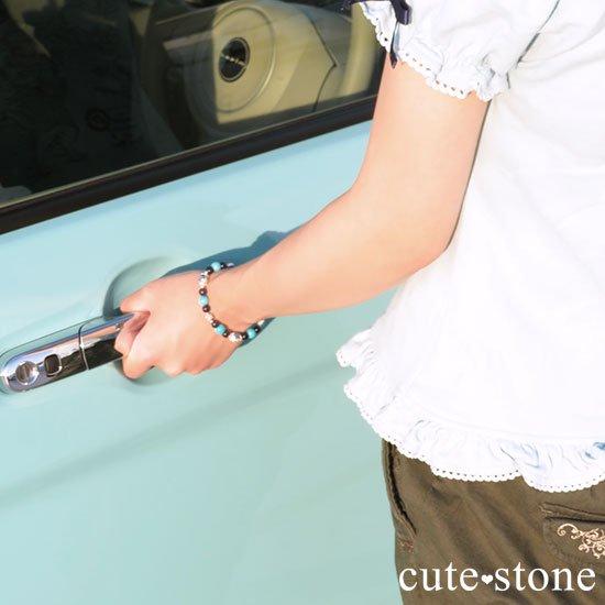 【無限の青】K2アズライト ターコイズ インペリアルソーダライトのブレスレットの写真6 cute stone