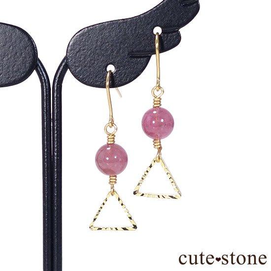 【全2種類】ピンクトルマリンの ピアス イヤリングの写真1 cute stone