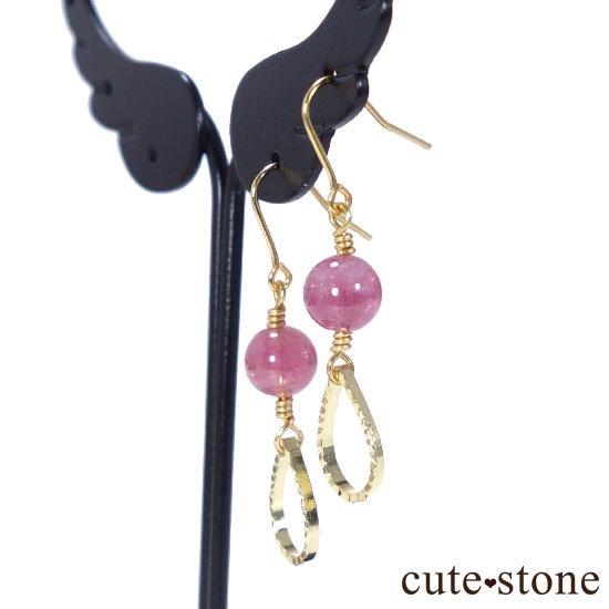 【全2種類】ピンクトルマリンの ピアス イヤリングの写真2 cute stone